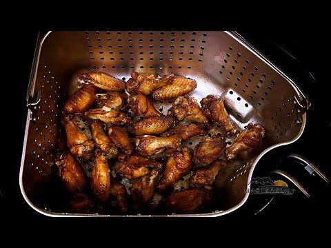 Fried Wings - Masterbuilt Indoor Electric Turkey Fryer - YouTube