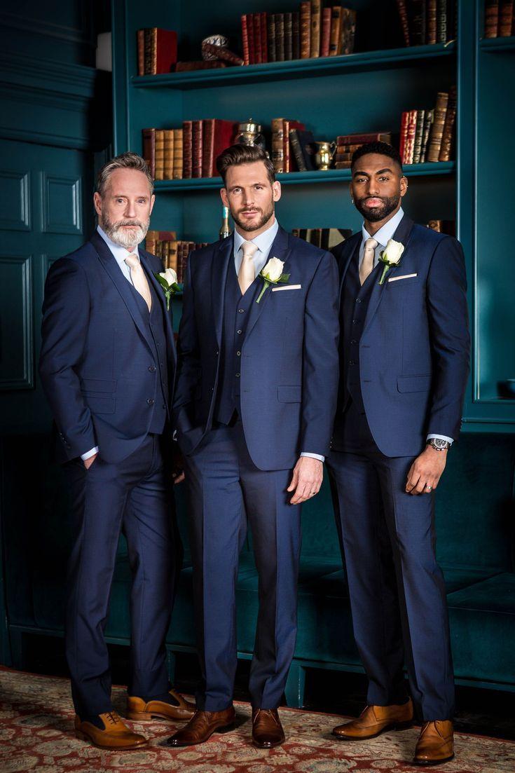Groomsmen Ideas Wedding Groomsmen Attire Wedding Suits Men Blue Groom Wedding Attire