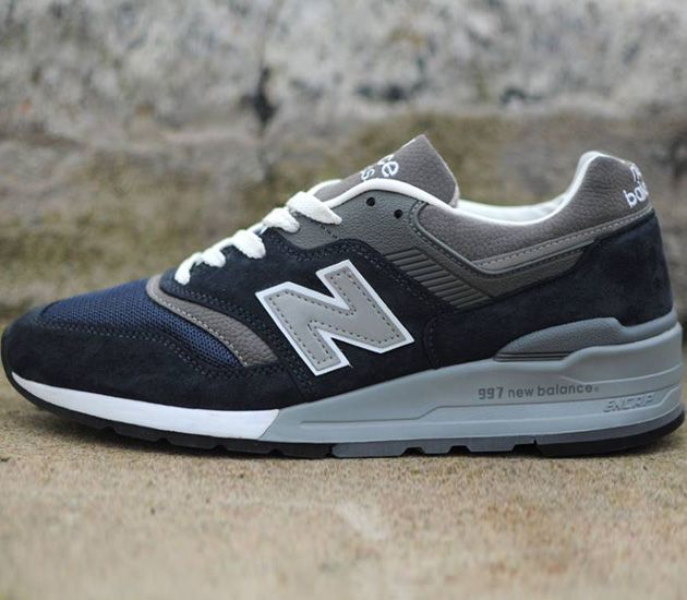 new balance 997 navy  grey