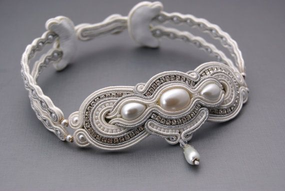 Bridal Soutache Choker by BeadsRainbow on Etsy, $259.00