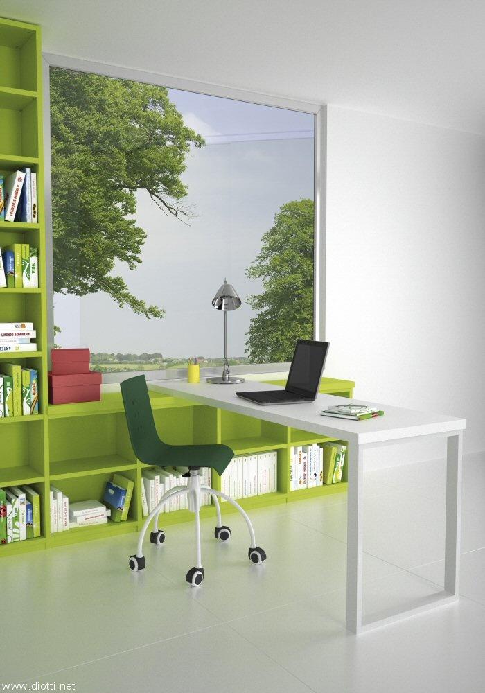 scrivania verde