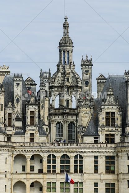 Chambrod Castle #France #castle #architecture #stockphoto #royaltyfreephoto https://www.vpuzzler.com/en/photo/chambord-castle-is-located-in-loir-et-cher-france-it-has-a-very-distinct-french-renaissance-architecture-which-blends-traditional-french-medieval-P96056/