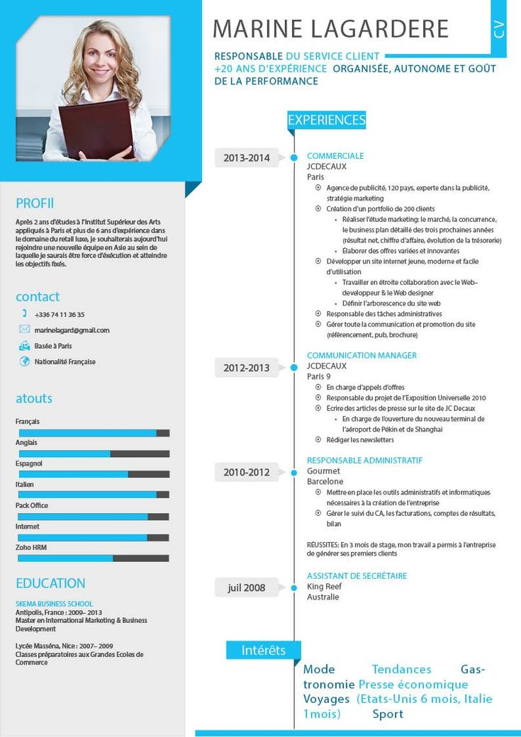 25 best cv francais ideas on pinterest lettre de motivation - Curriculaum Vitae