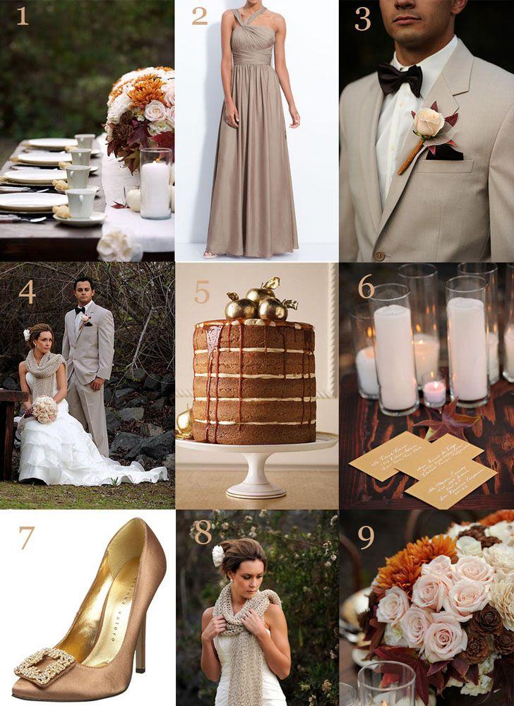 Gold Brown Wedding Inspiration Wv Weddings Caroline Mckean Designs