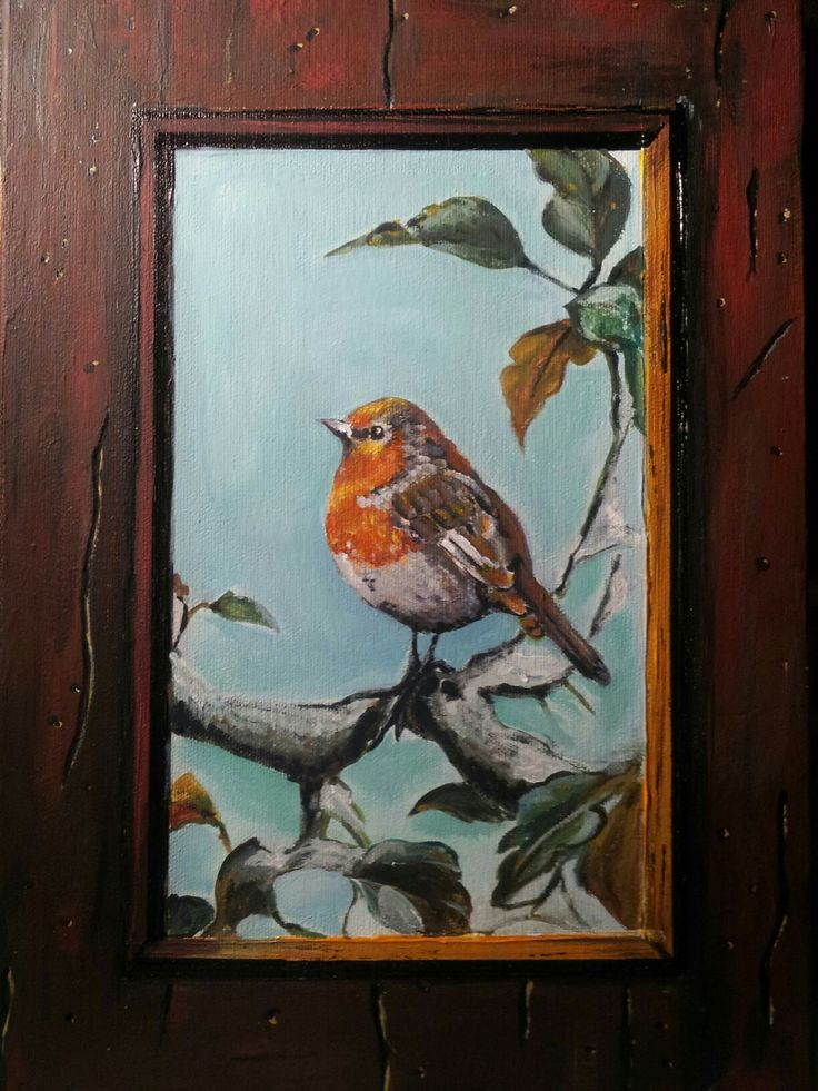 """Elwood"" Tromp l'oeil Oil on canvas 25x35cm painted by Ariela Salcini"