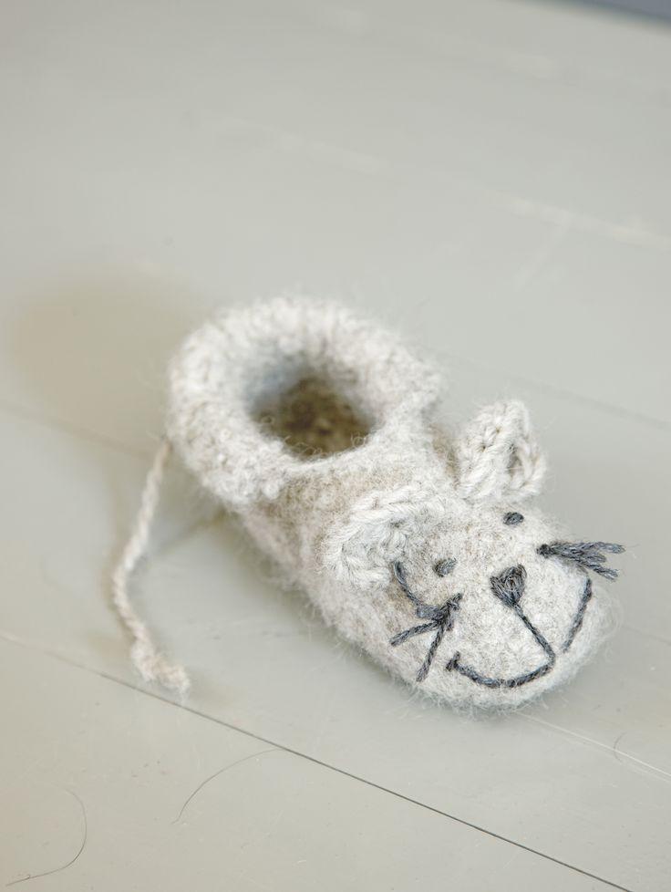 Novita felting ideas, slippers made with Novita Joki (River) yarn #novitaknits https://www.novitaknits.com/en