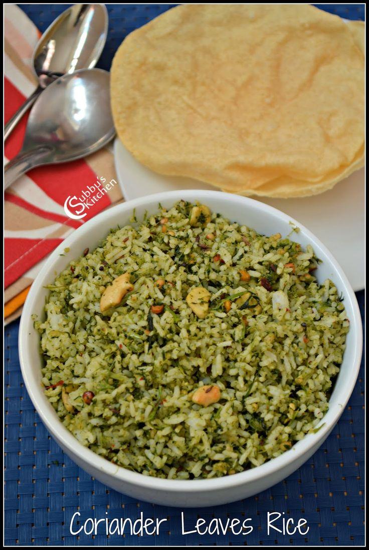 Kothamalli Rice(Corainder Leaves Rice)