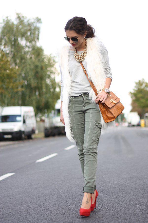 @roressclothes closet ideas #women fashion outfit #clothing style apparel Khaki Pants with Pockets via