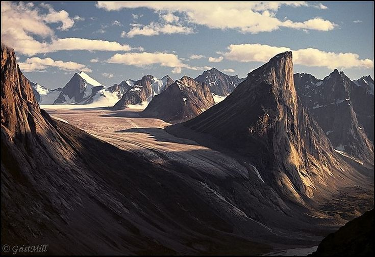 Mount Thor - World's greatest vertical drop. Auyuittuq National Park on Baffin Island in Nunavut