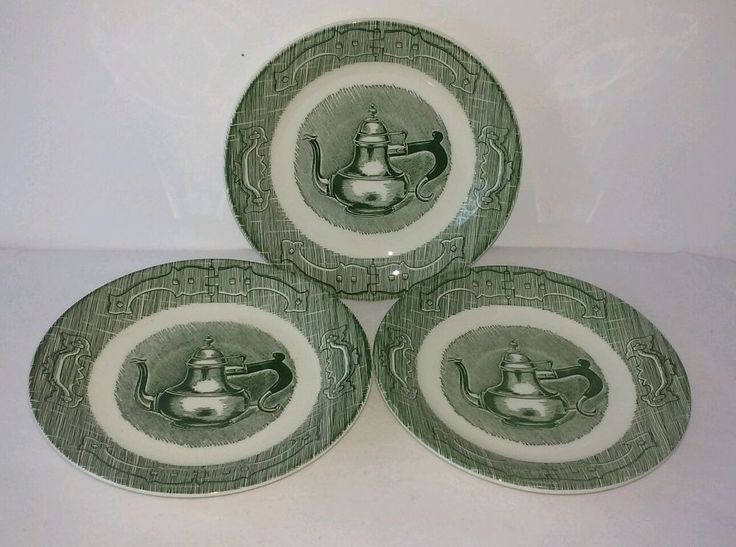 The Old Curiosity Shop set of 3 saucers