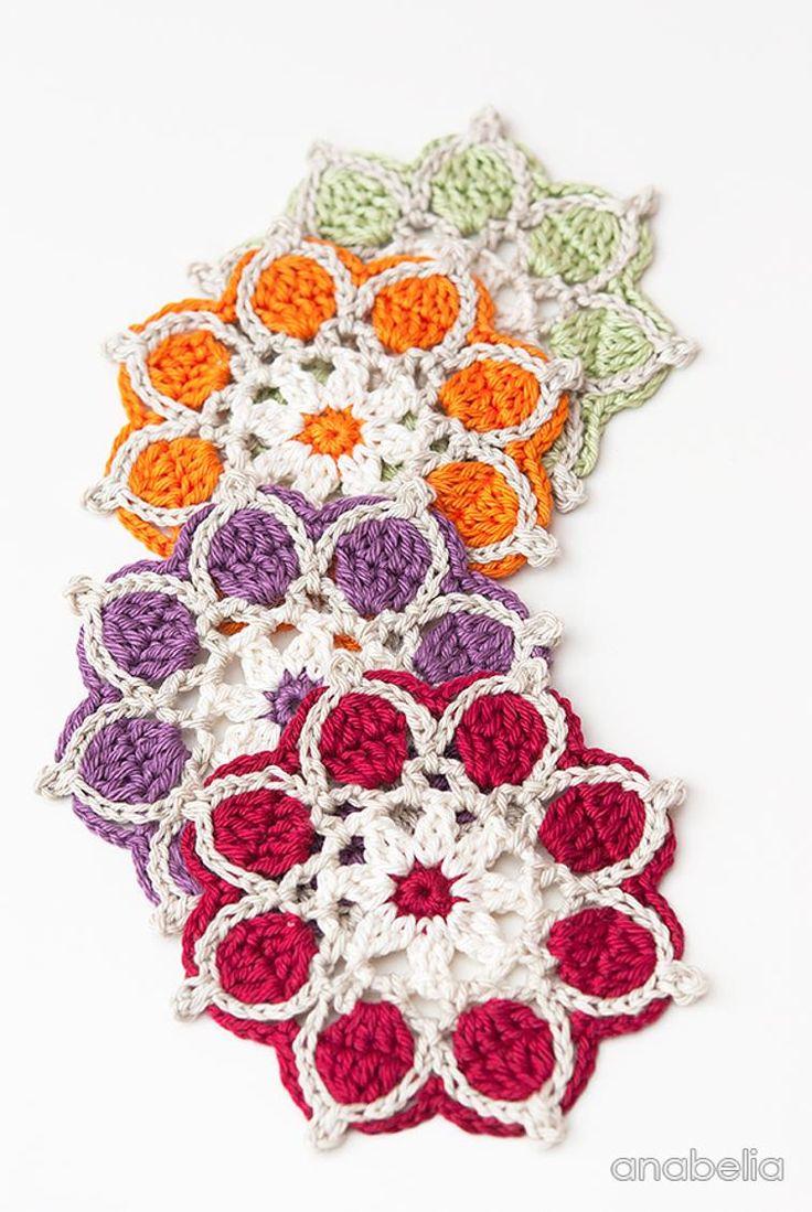 Winter Flowers coasters | Craftsy