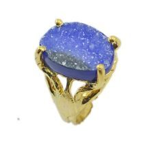 angelic Druzy Gold Plated Multi-Colour Ring wholesale US 6789
