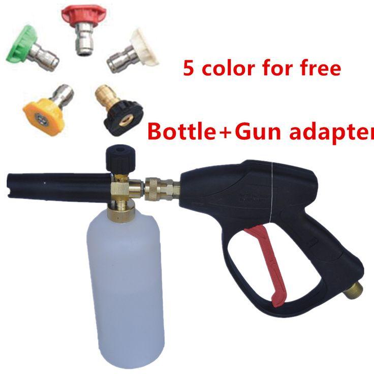 Mesin cuci mobil tekanan tinggi 1l botol sabun salju semprot disesuaikan foamer lancer pompa pistol air cuci nozzle adapter untuk karcher