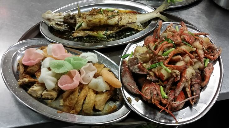 Steamed Whole Fish, Lobster with Ginger and Onion, Crispy Whole Chicken