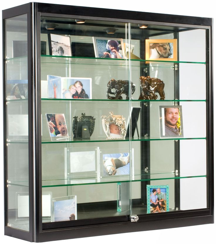 3x3 Wall Mounted Display Case W Mirror Back Amp 2 Top