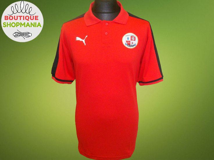 Ex! CRAWLEY TOWN PUMA POLO RED SHIRT Jersey Maglia Camisa Soccer #Puma #CRAWLEYTOWN