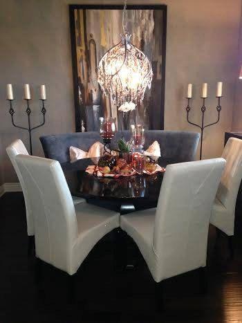 Round Pedestal Table  Customizable by JamesAndJames on Etsy