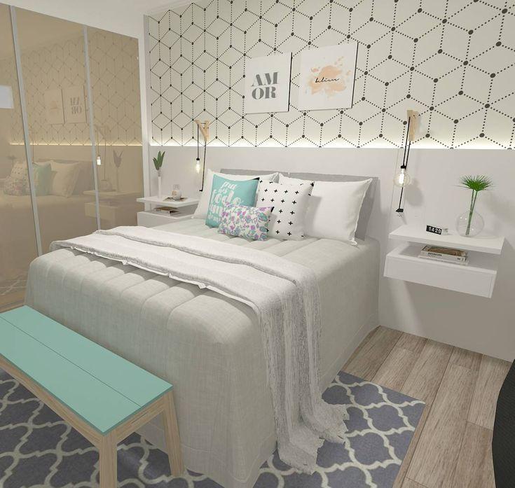 """1,703 Likes, 30 Comments - Interiores e Arquitetura (@criarinteriores) on Instagram: """"Um quarto lindo! """""""