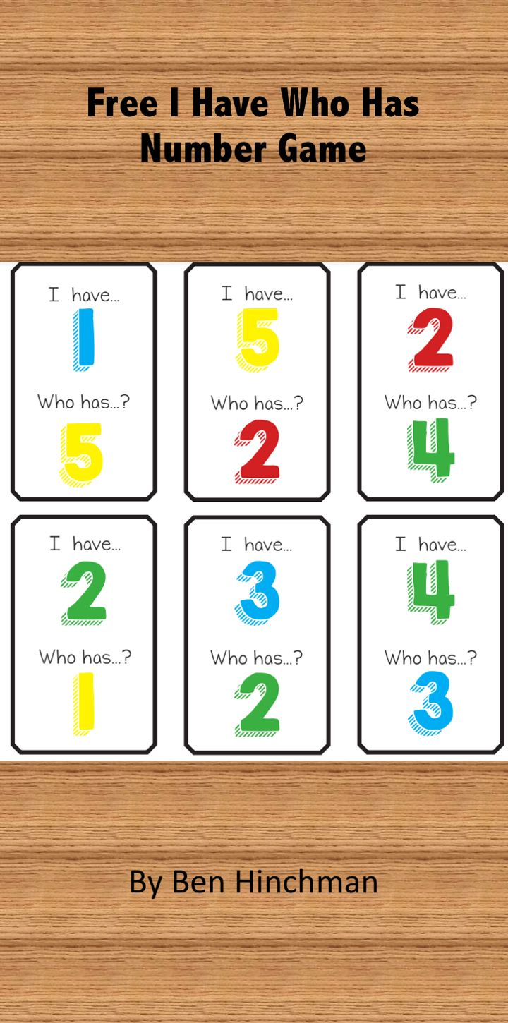 Free Game- I have.. Who has...? for numbers 1-20. Thanks to my teaching partner Ben who made this game and gave me permission to share it with all of you.