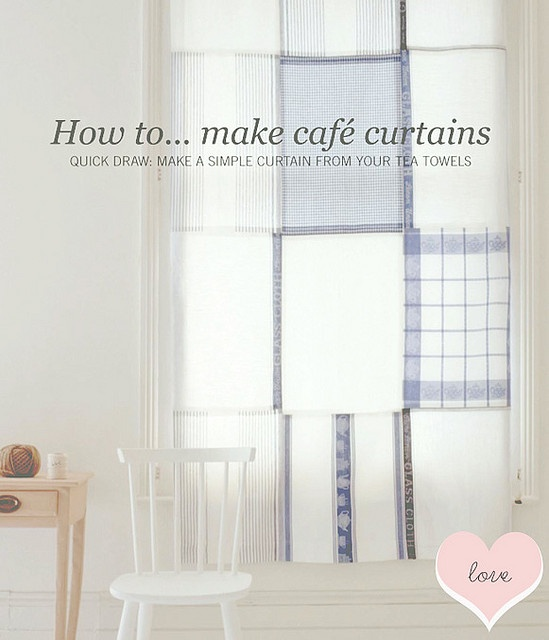 Tea Towel Kitchen Curtains: Easy Diy, Towels And Tea Towels