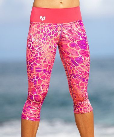 Another great find on #zulily! Pink Desert Hannah Yoga Capri Leggings…: | shop @ FitnessApparelExpress.com