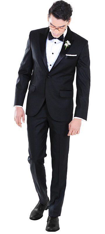Peak Lapel Black Custom Tuxedo
