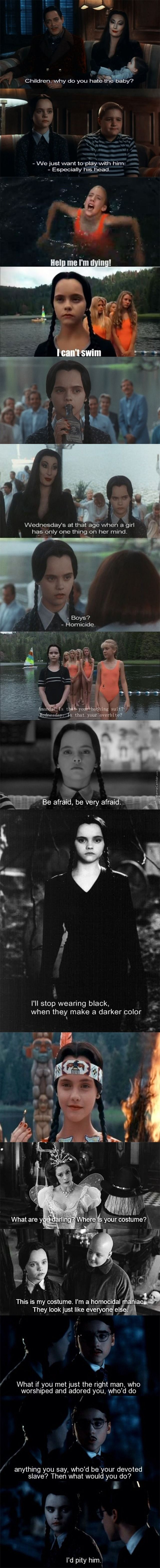Some Of The Best Moment Of Wednesday Addams In ''the Addams Family''                                                                                                                                                                                 More