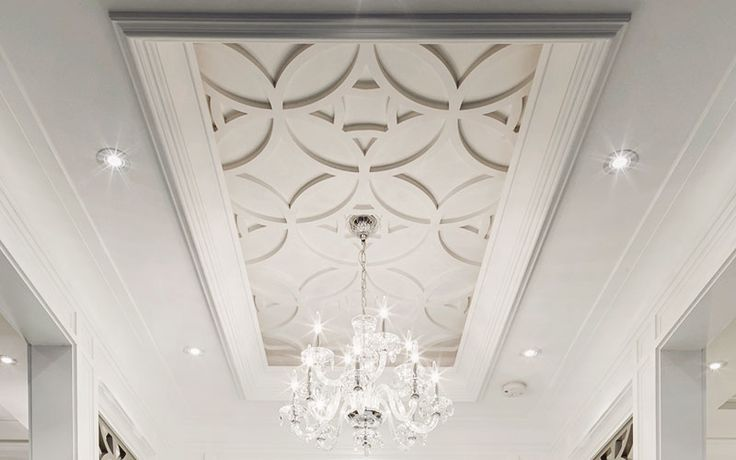 For living and dining center ceiling detailling