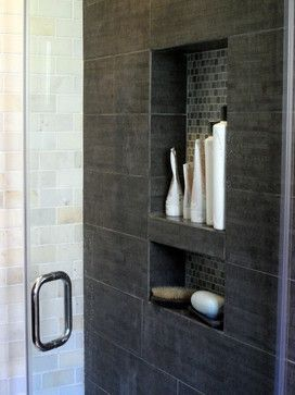 Shower Shelves The Mosaic And Built Ins On Pinterest