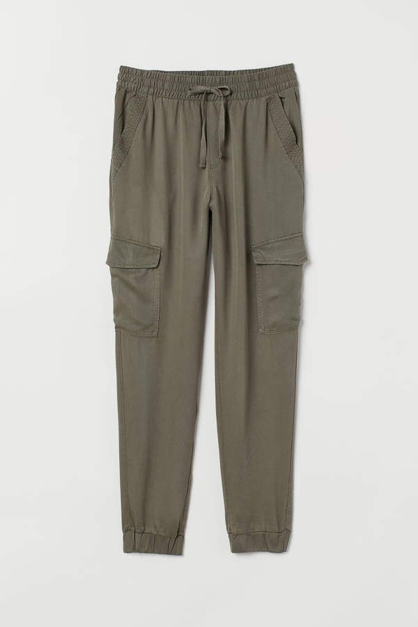 H&M Lyocell Cargo Pants – Green