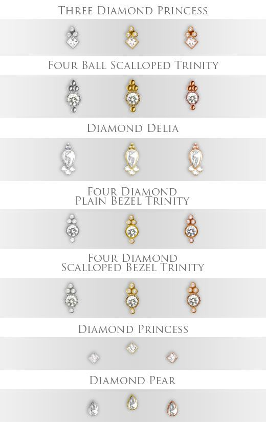 Maria Tash PRE-ORDER 18k gold petite diamond collection