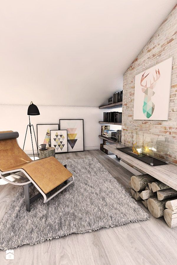 Salon styl Industrialny - zdjęcie od Pracownia Projektowa MONO - Salon - Styl Industrialny - Pracownia Projektowa MONO