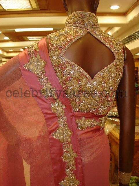 #Crystal #Blouse #Saree.