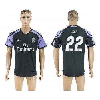 Real Madrid 16-17 Isco 22 Tredje Tröja Kortärmad   #Billiga  #fotbollströjor