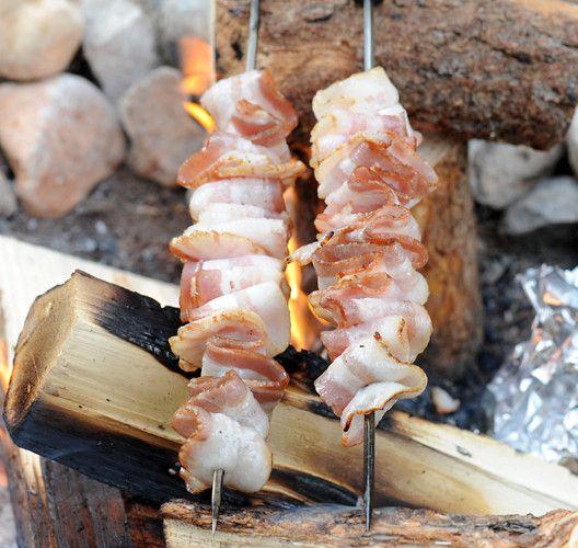 Recette de bacon sur le feu (pour le camping)!