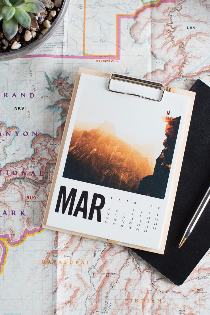Take Your Travels Back Home With You With @artifactuprsngu0027s Modern Wood  Calendar. Simply Upload