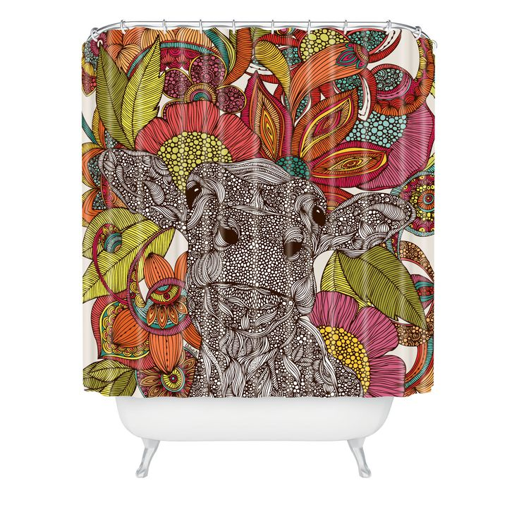 extra long grey shower curtain. DENY Designs Valentina Ramos Arabella And The Flowers Extra Long Shower  Curtain Best 25 shower curtains ideas on Pinterest long