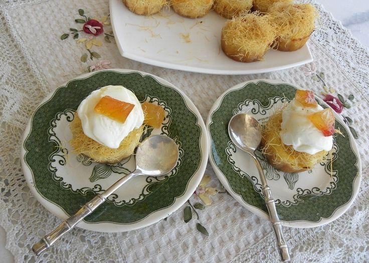 Blog post at Κοπιάστε .. στην Κουζίνα μου :  Οι Φωλιές Κανταϊφιού με Κρέμα Γαλακτομπούρεκου, είναι μια εύκολη συντα[..]