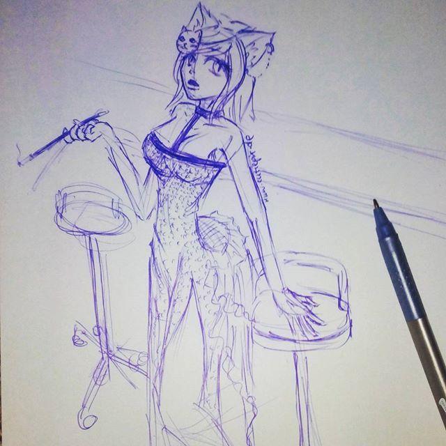 #Catgirl in einer Bar  #cutiepix #Cutiepixdesign #anime #manga #animedrawing #animeart #animegirl #animedraw #mangadraw #mangagirl #girl #women #doodle #animedoodle #cat #catears #katze #sketch #kugelschreiber #kawaii #skizze #zeichnung #animezeichnung #аниме #манга #ресунок #анимеарт #анимерисунок #otaku