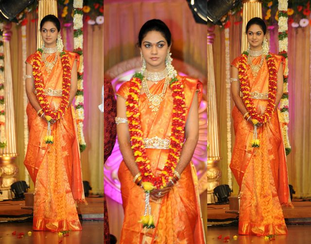 South Indian Reception Sarees For Bride