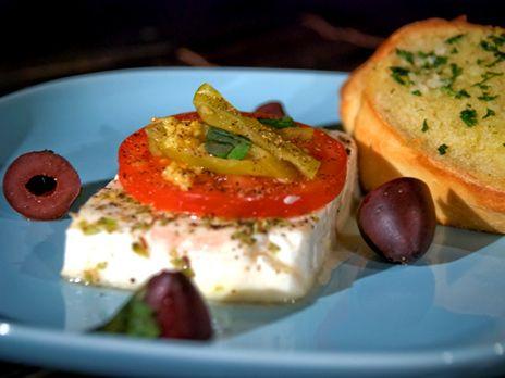 Grillad fetaost från Lesvos | Recept.nu