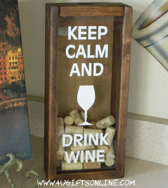 Keep Calm and Drink Wine Cork Holder by 4UGIFTSONLINE on Etsy, $35.00