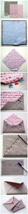 ohyaydesign:  DIY Stitched envelopes