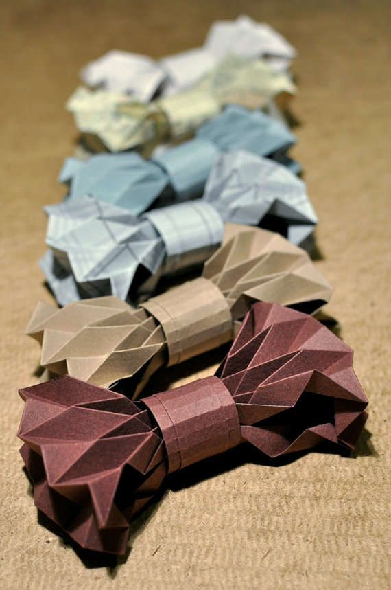 DIY Origami Bow Ties - This Paper Bow Tie is Completely Disposable (GALLERY)