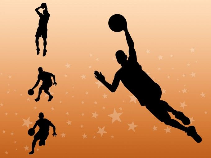 Basketball Players Powerpoint Theme Is A Free Texture Background