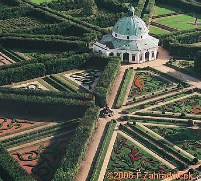 Gardens in Kroměříž, Moravia