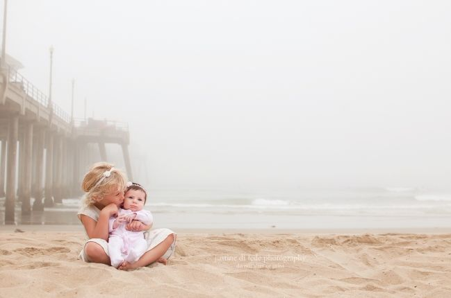 Sisters, Huntington Beach Newborn Photography Justine Di Fede Photography