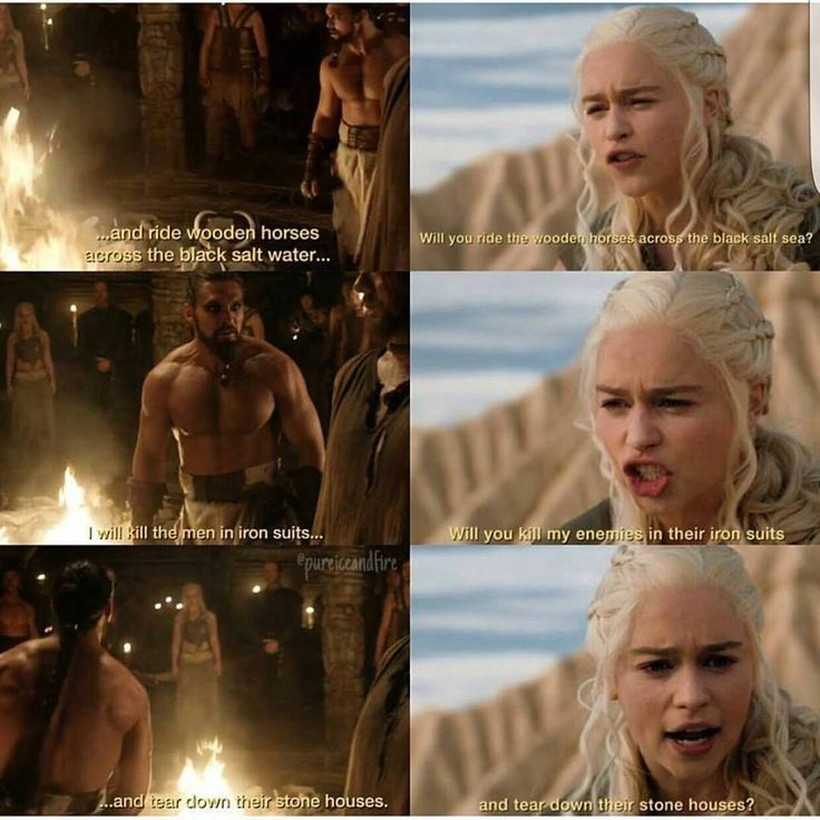 Khal Drogo & Daenerys (6x6) The Moon of his life & her Sun & Stars.