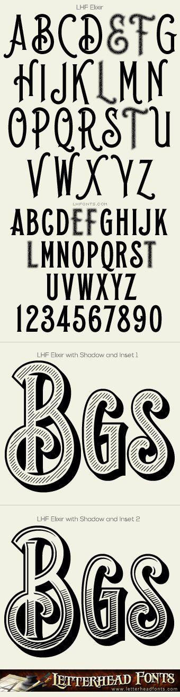 Letterhead Fonts / LHF Elixir font set / Vintage Western Fonts