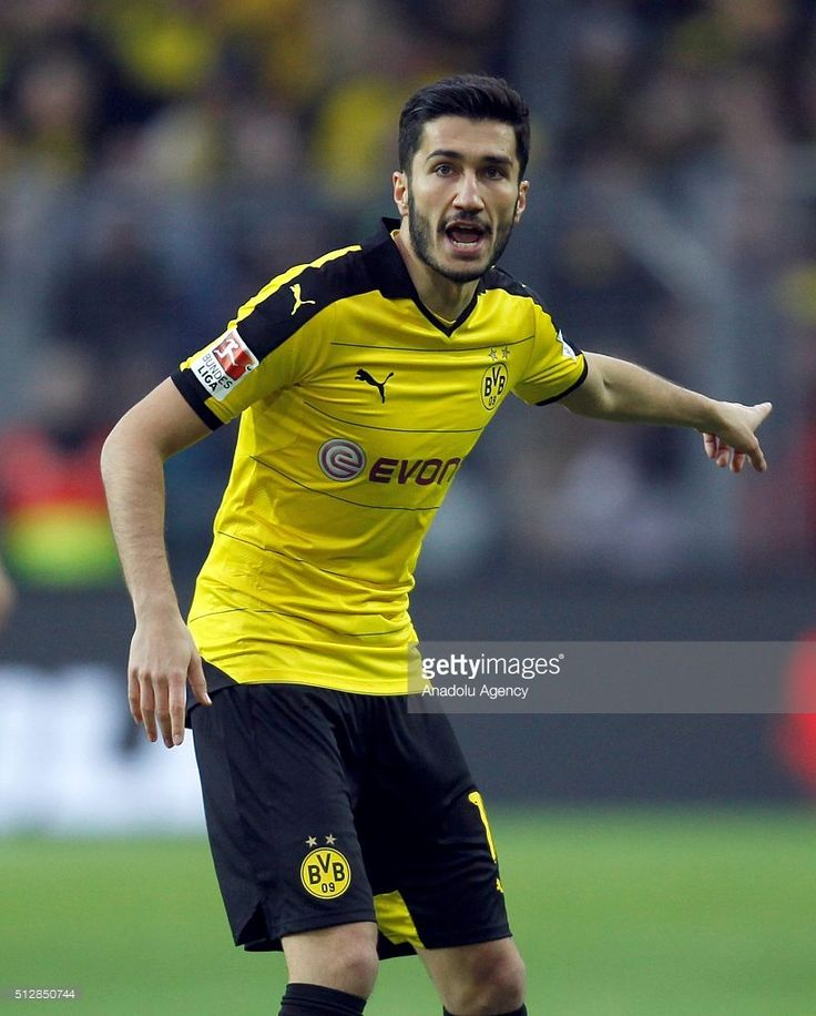 Borussia Dortmund's Nuri Sahin reacts during the Bundesliga soccer match between Borussia Dortmund and TSG 1899 Hoffenheim at the Signal-Iduna stadium in Dortmund, Germany on February 28, 2016.